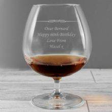 Personalised Decorative Brandy Glass P0107C74